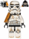 Minifig No: sw0364  Name: Sandtrooper - Orange Pauldron, Survival Backpack, Dirt Stains, Balaclava Head Print and Helmet with Dotted Mouth Pattern