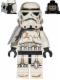 Minifig No: sw0383  Name: Sandtrooper - White Pauldron, Survival Backpack, Dirt Stains, Balaclava Head Print and Helmet with Dotted Mouth Pattern