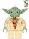 Minifig No: sw0446  Name: Yoda (Clone Wars, White Hair, Torso with Back Printing)