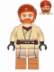 Minifig No: sw0449  Name: Obi-Wan Kenobi, Medium Dark Flesh Legs
