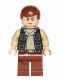 Minifig No: sw0451  Name: Han Solo, Reddish Brown Legs with Holster Pattern, Vest with Pockets