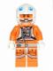 Minifig No: sw0458  Name: Snowspeeder Pilot - White Helmet