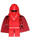 Minifig No: sw0521b  Name: Royal Guard with Dark Red Arms and Hands (Spongy Cape)