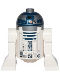 Minifig No: sw0527  Name: R2-D2 (Flat Silver Head, Dark Blue Printing, Red Dots, Small Receptor)