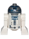 Minifig No: sw0527a  Name: R2-D2 (Flat Silver Head, Dark Blue Printing, Lavender Dots, Small Receptor)