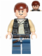 Minifig No: sw0539  Name: Han Solo, Dark Blue Legs, Vest with Pockets