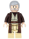 Minifig No: sw0552  Name: Obi-Wan Kenobi (Dark Brown Hooded Coat)