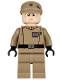 Minifig No: sw0623  Name: Imperial Officer (Captain / Commandant / Commander) - Dark Tan Uniform