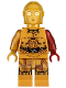 Minifig No: sw0653  Name: C-3PO - Dark Red Arm