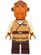 Minifig No: sw0719  Name: Admiral Ackbar (Medium Nougat Robe)