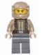Minifig No: sw0720  Name: Resistance Trooper - Dark Tan Jacket, Frown, Cheek Lines