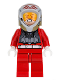 Minifig No: sw0757  Name: Rebel Pilot A-wing (Open Helmet, Red Jumpsuit)