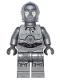 Minifig No: sw0766  Name: Silver Protocol Droid (U-3PO)