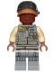 Minifig No: sw0806  Name: Rebel Trooper, Reddish Brown Head, Helmet with Pearl Dark Gray Band (Corporal Tonc)
