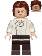 Minifig No: sw0823  Name: Han Solo, Dark Brown Legs, Wavy Hair