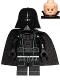 Minifig No: sw0834  Name: Darth Vader - Light Nougat Head