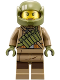 Minifig No: sw0892  Name: Resistance Trooper - Dark Tan Hoodie Jacket, Ammo Pouch, Stubble, Helmet with Chin Guard
