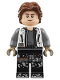Minifig No: sw0915  Name: Han Solo, White Jacket, Black Legs with Dirt Stains