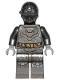 Minifig No: sw0938  Name: RA-7 Protocol Droid (Pearl Dark Gray)
