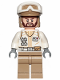 Minifig No: sw1008  Name: Hoth Rebel Trooper White Uniform, Dark Tan Legs (Brown Angular Beard)