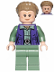 Minifig No: sw1011  Name: General Leia (Dark Tan Turtleneck, Detailed Vest)