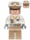 Minifig No: sw1016  Name: Hoth Rebel Trooper White Uniform, Dark Tan Legs (Open Mouth Smile)