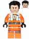 Minifig No: sw1019  Name: Poe Dameron (Pilot Jumpsuit without Belts and Pipe, Hair)