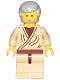 Minifig No: sw1069  Name: Obi-Wan Kenobi (Old with Light Bluish Gray Hair - 20th Anniversary Torso)