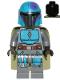 Minifig No: sw1080  Name: Mandalorian Tribe Warrior - Male, Olive Green Cape, Dark Azure Helmet