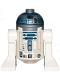 Minifig No: sw1085  Name: R2-D2 (Flat Silver Head, Dark Blue Printing, Dark Pink Dots, Large Receptor)