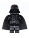 Minifig No: sw1112  Name: Darth Vader (Printed Arms, Traditional Starched Fabric)