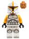 Minifig No: sw1146  Name: Clone Trooper Commander (Bright Light Orange Markings)