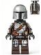 Minifig No: sw1166  Name: The Mandalorian (Din Djarin / 'Mando') - Silver Beskar Armor, Jet Pack