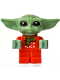 Minifig No: sw1173  Name: Grogu / The Child / Baby Yoda - Red Christmas Sweater and Scarf
