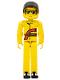 Minifig No: tech032a  Name: Technic Figure Yellow Legs, Yellow Top, Yellow Helmet, Black Visor (Power Puller Driver)