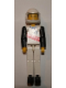 Minifig No: tech039a  Name: Technic Figure White Legs, White Top with Red Stripes Pattern, Black Arms, White Helmet (Skier)