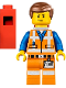 Minifig No: tlm018  Name: Emmet - Lopsided Closed Mouth Smile, with Piece of Resistance