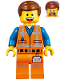 Minifig No: tlm113  Name: Emmet - Smile / Scream, Worn Uniform