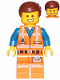 Minifig No: tlm125  Name: Emmet - Smile / Scared, Worn Uniform