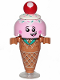 Minifig No: tlm127  Name: Ice Cream Cone