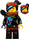 Minifig No: tlm129  Name: Lucy Wyldstyle with Black Quiver, Reddish Brown Scarf and Goggles, Smile / Angry