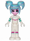 Minifig No: tlm143  Name: Sweet Mayhem - Crooked Smile, Raised Eyebrow, Hair