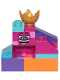 Minifig No: tlm200  Name: Queen Watevra Wa'Nabi - Small Pile of Bricks Form 2