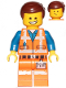 Minifig No: tlm202  Name: Emmet - Smile / Cheerful, Worn Uniform
