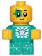 Minifig No: tlm203  Name: Sparkle Baby - Dark Turquoise Star Around Eye