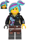 Minifig No: tlm207  Name: Lucy Wyldstyle with Hood Folded Down, Raised Eyebrows / Furious