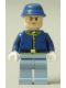 Minifig No: tlr020  Name: Cavalry Soldier - Brown Eyebrows, Stubble