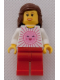 Minifig No: tls005  Name: Lego Brand Store Female, Pink Sun - Indianapolis