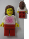 Minifig No: tls007  Name: Lego Brand Store Female, Pink Sun - Beachwood