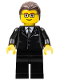 Minifig No: tls020  Name: Lego Brand Store Male, Dark Brown Hair - Liverpool